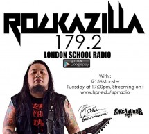 Rockazilla, every tuesday at 179.2 London School Radio
